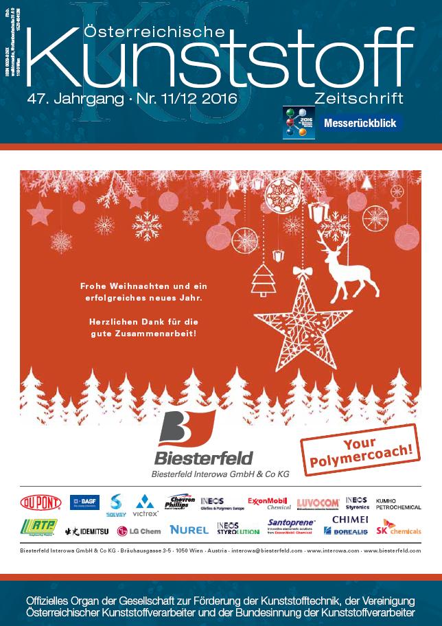 Österreichische Kunststoffzeitschrift 11/12 2016