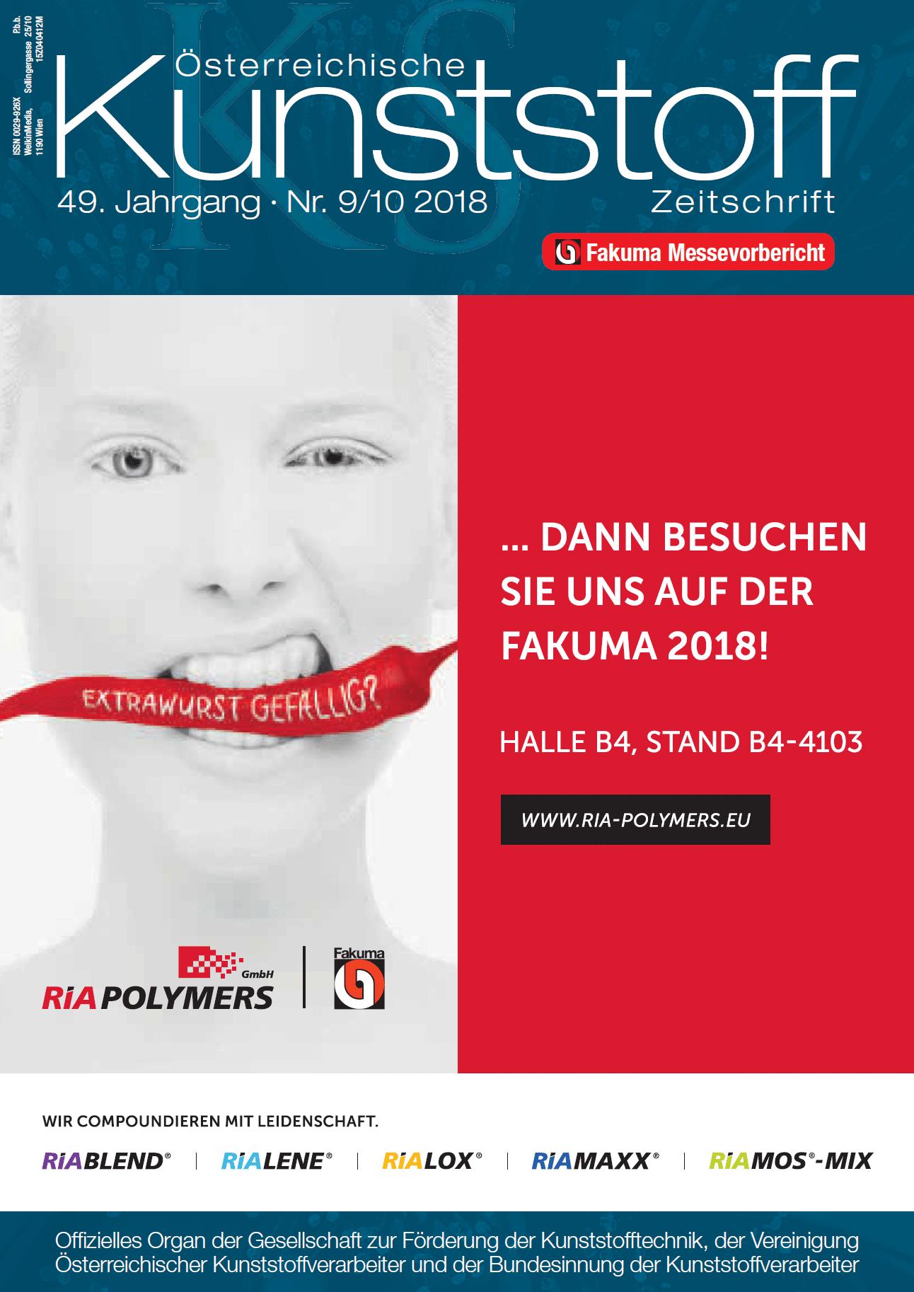 Österreichische Kunststoffzeitschrift 09/10 2018