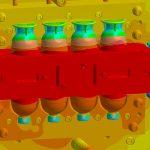 Die Prozessauslegung des 2-K-Eierbechers auf der umgerüsteten 1-K-Maschine erfolgt mit Sigmasoft Virtual Molding vorab. | Grafik: Sigma