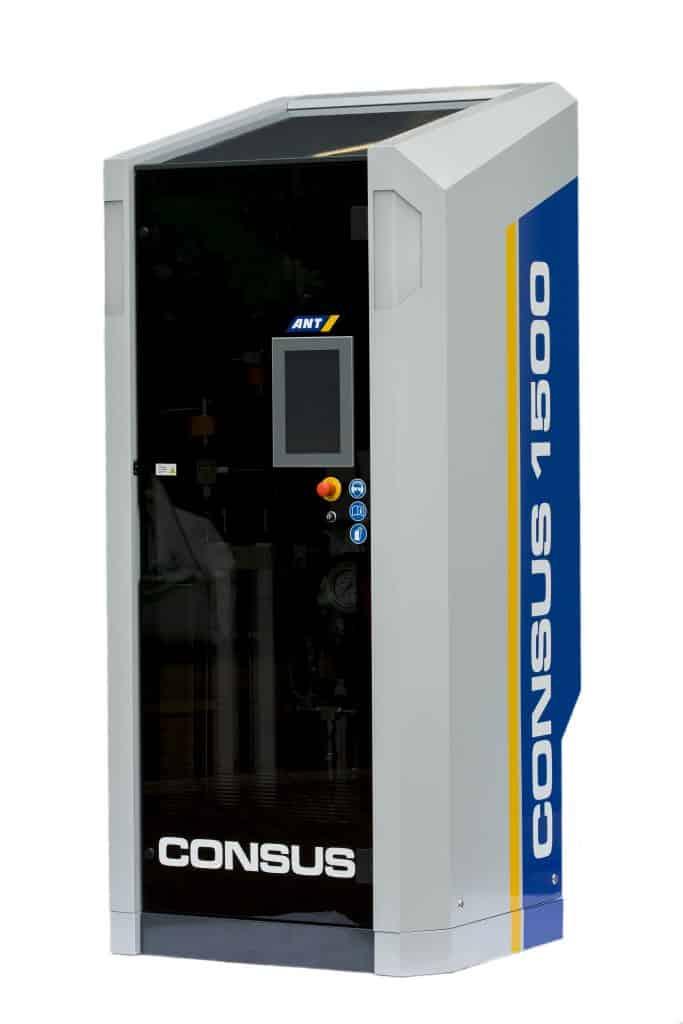 Die Abrasivmittelzumischeinheit ConSus (Continuous Suspension) für den Einsatz des WAS-Verfahrens (Wasser Abrasiv Suspension) in der bearbeitenden Industrie. | Foto: ConSus ANT