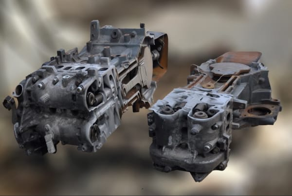 Querschnitt des 1.3 CTDi Opel Motors Materialmix mit Materialstärke bis 400 mm nach dem Trennschnitt mit ConSus | Foto: ConSus ANT